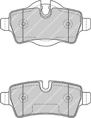 FDB1975 Колодки тормозные MINI COOPER 06-/ONE/CLUBMAN 07- задние