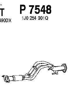 P7548 Трубопровод выпускной VW BORA / GOLF 1.6 02-05