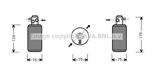 MSD050 Осушитель кондиционера MB SPRINTER 2.3D/2.9D 95-