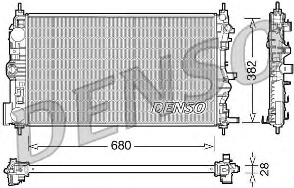 DRM15005 Радиатор CHEVROLET CRUZE/ORLANDO 2.0 CDI M/T 09-