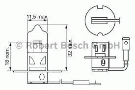 1987302431 Лампа H3 Trucklight 70 W 24 V PK22s