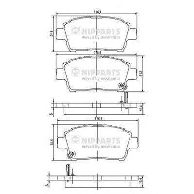 J3602088 Колодки тормозные TOYOTA COROLLA/PRIUS/YARIS 1.0-1.6 99- передние