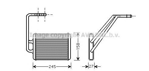 HY6121 Радиатор отопителя HYUNDAI ELANTRA 1.5-2.0 01-