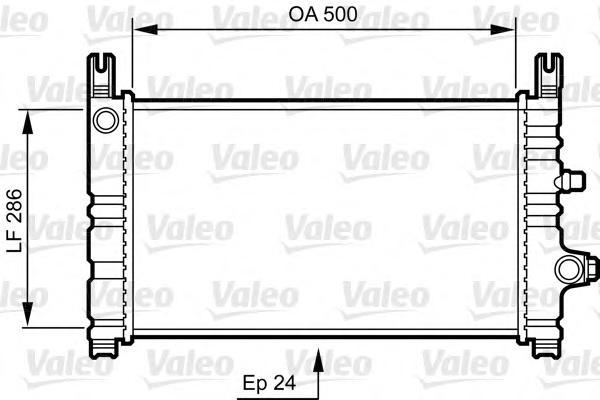 731299 Радиатор системы охлаждения FORD: FIESTA III (GFJ) 1.8 16V/1.8 XR2i 16V 89 - 97