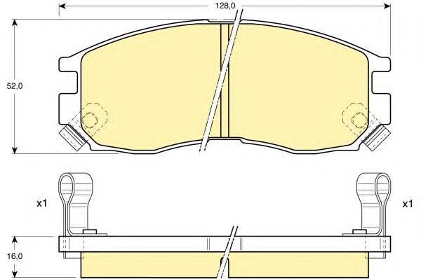 6111289 Колодки тормозные MITSUBISHI GALANT/LANCER 1.8-2.0 88-00 передние
