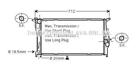 BW2293 Радиатор системы охлаждения BMW: 1 (E81, E87) 118d/120d 04 - , 3 (E90) 318d/320d/330d 05 - , 3 Touring (E91) 318d/320d/32
