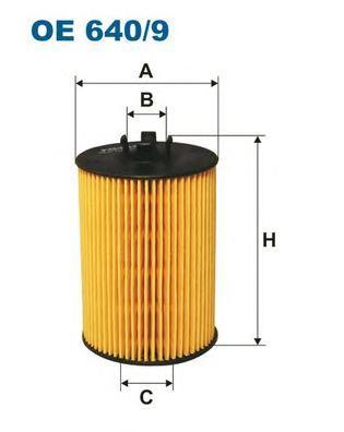 OE6409 Фильтр масляный MB A(W169) -12  B(W245) -11