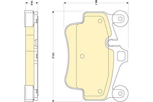 6118369 Колодки тормозные PORSCHE 911 04-/BOXSTER 08-/CAYMAN 09- передние