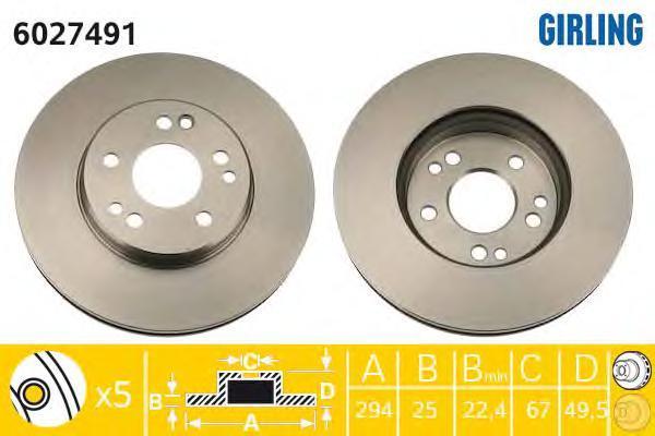 6027491 Тормозной диск