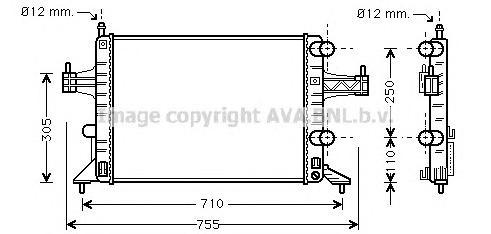 OLA2303 Радиатор OPEL COMBO 1.0-1.4 00-