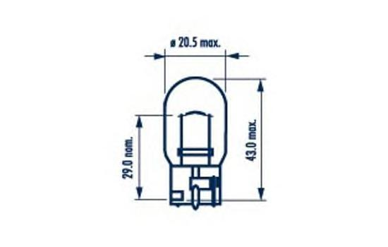 17632 Лампа W21W 12V 21W W3X16d