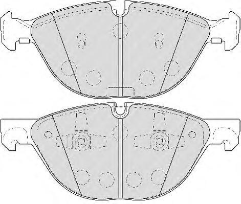 FDB4079 Колодки тормозные BMW X5 E70 07-/X6 E71 -08.08 передние