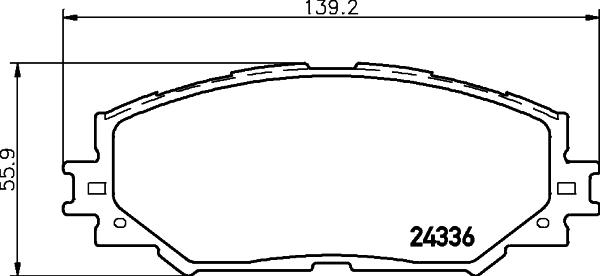 8DB355006861 Колодки тормозные TOYOTA AURIS 1.4-1.6 07-/COROLLA 1.4 07-/RAV 4 06- передние