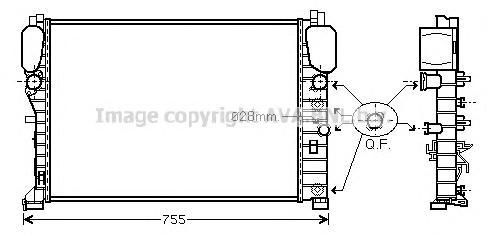 MSA2394 Радиатор MB W211 2.0-5.5/2.2D-2.7TD 02-
