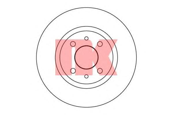 209932 Диск тормозной ALFA 145/146/FIAT BRAVA 95-01/PUNTO 93-00 передний не вент.