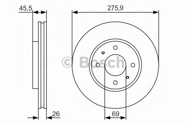 0986479R94 Диск тормозной MITSUBISHI GALANT VI 9604/LANCER 03 передний вент.