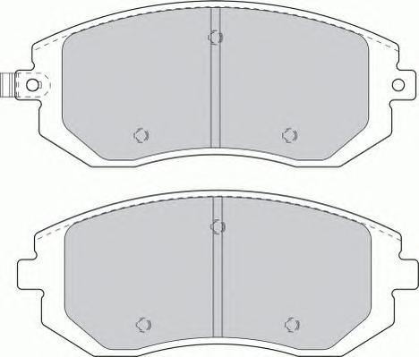 FDB1639 Колодки тормозные SUBARU FORESTER 01-/IMPREZA 01-/LEGACY 98- передние
