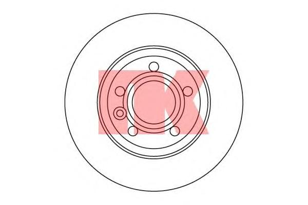 204767 Диск тормозной задний / VW Transporter T-4 2.0/1.9TD,2.5+TD/2.8 VR6 (12.0-280) 96~
