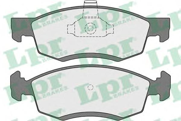05P1654 Колодки тормозные RENAULT LOGAN универсал/пикап 06- передние