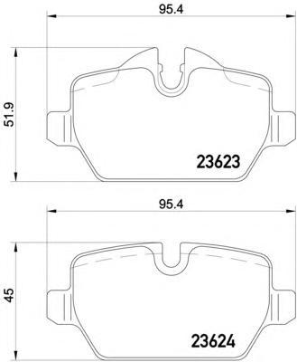 8DB355011271 Колодки тормозные BMW E81/E87/E90 1.6-2.0 04- задние