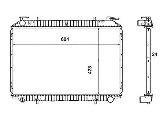 519534 Радиатор NI Serena 2.0L 93-