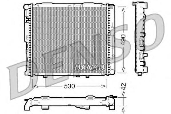 DRM17034 Радиатор системы охлаждения MERCEDES-BENZ: E-CLASS (W124) E 250 Turbo-D (124.128) 93 - 95 , KOMBI универсал (S124) 200
