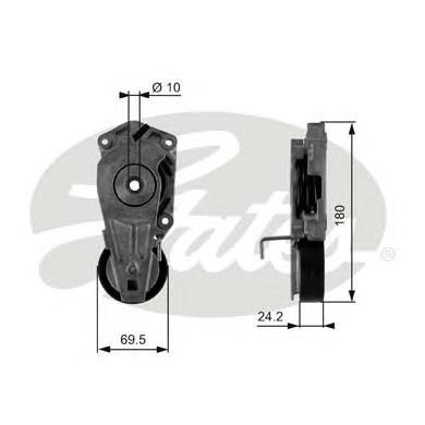 T38405 Натяжитель ремня приводного BMW COOPER/ONE 1.4/1.6
