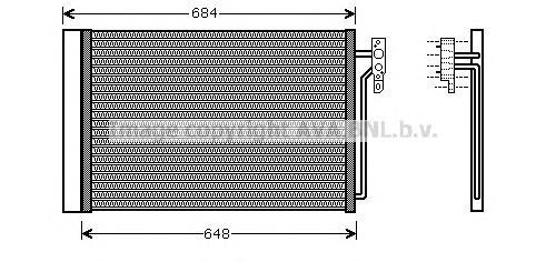 AUA5182 Конденсер LAND ROVER RANGE ROVER 4.2/4.4/3.0TD 02-