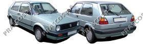 VW0301000 Бампер передний без отверстий под ПТФ / VW Golf II,Jetta II 83~