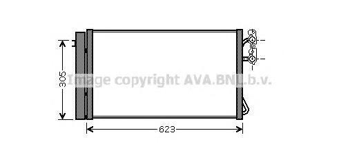 BWA5296 Конденсер BMW E87 1.6-3.5/1.6D-3.5D 05-