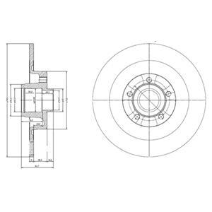 BG9024RS Диск тормозной RENAULT ESPACE IV 02- задний с подшипником,с кольцом АБС