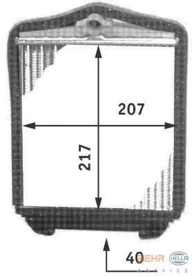 8FH351311691 Радиатор отопителя MB W124 89-93