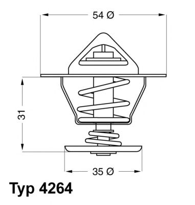 426487D Термостат AUDI A3/A4 1.9-2.0TDI 00- / SKODA OCTAVIA 1.9TDI 00- / VW GOLF 1.9 03-