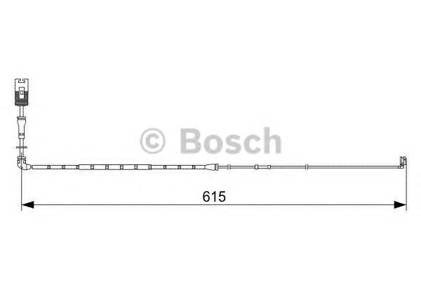 1987473056 Датчик износа торм.колодок RANGE ROVER 3.6/4.2 передний 615мм