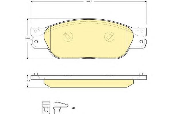 6115109 Колодки тормозные JAGUAR S-TYPE 04-07/XJ6/XJ8 03-09 передние