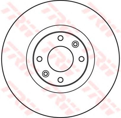 DF4962S Диск тормозной PEUGEOT 308/3008/5008 07- передний вент.D=302мм.