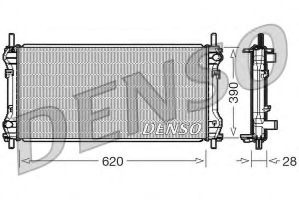 DRM10102 Радиатор системы охлаждения FORD: TRANSIT c бортовой платформой/ходовая часть 2.4 TDCi 06 - , TRANSIT c бортовой платфо