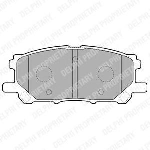 LP1823 Колодки тормозные LEXUS RX300/RX330/RX350 0308/RX400H 0509 передние