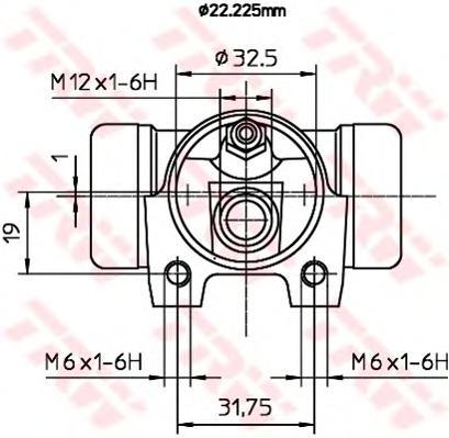 BWH373 Циллиндр тормозной задн BERLINGO