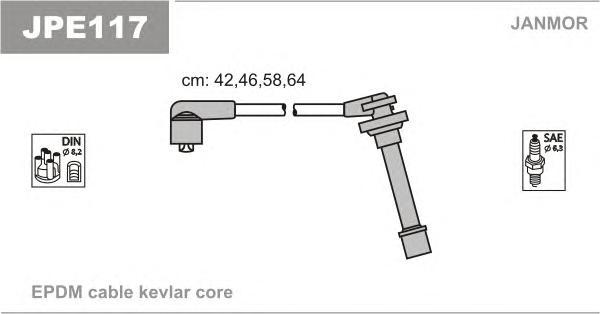 JPE117 Комплект проводов зажигания NISSAN: MICRA 92-00