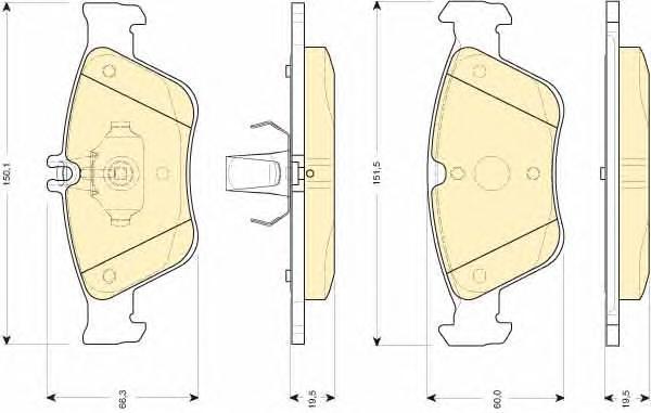 6112052 Колодки тормозные MERCEDES W210/W202/C208 2.0-2.8 передние