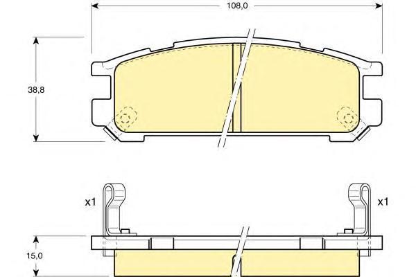 6109909 Колодки тормозные SUBARU INPREZA 1.6-2.0 92-00/LEGACY 1.8-2.5 89-03 задние