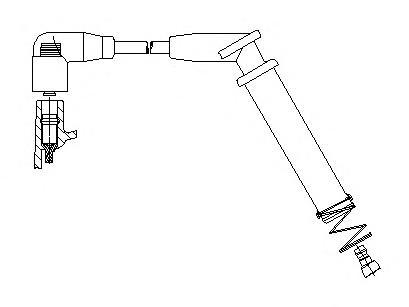 6A8442 Провод в/в 1-цил Ford Focus Rocam