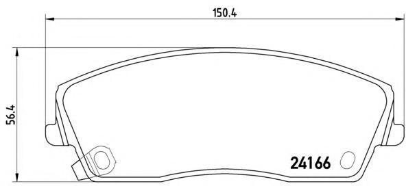 P11019 Колодки тормозные CHRYSLER 300C 04- передние
