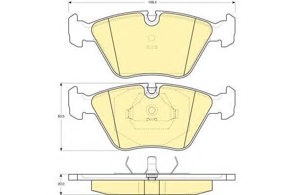 6109162 Колодки тормозные BMW E36 M3/E34/E32/Z3 E36 передние