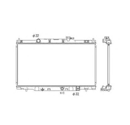 53573 Радиатор HO CR-V 2.0 МКПП 02-07
