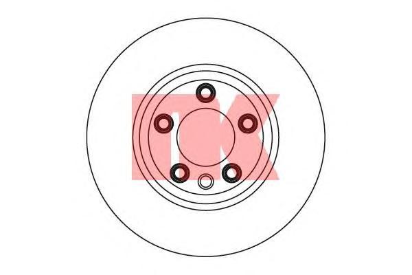 2047105 Диск тормозной передний правый / AUDI Q7 ,PORSCHE Cayenne; VW Touareg 03~