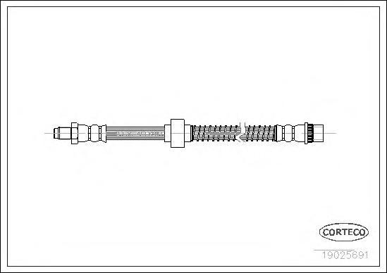 19025691 Шланг тормозной CITROEN: XANTIA 1.6 i/1.8 i/1.8 i 16V/1.9 D/1.9 SD/1.9 Turbo D/2.0 Turbo/2.0 i/2.0 i 16V/2.1 Turbo D 12