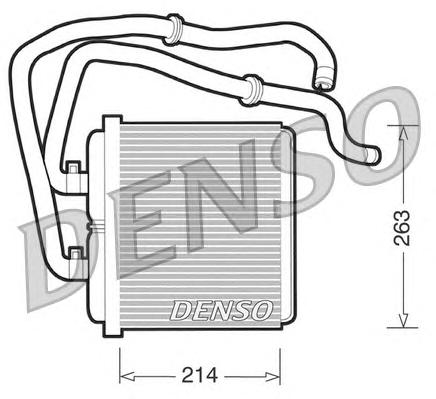 DRR12003 Радиатор отопителя IVECO DAILY III/IV/V 2.3D-3.0D 99-/06-/11-