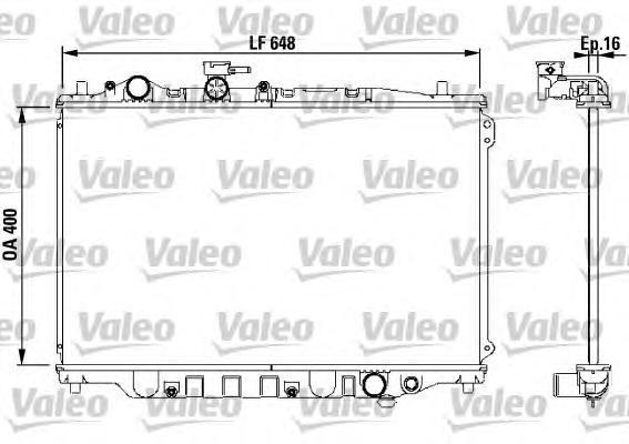 730440 Радиатор двигателя MAZDA 626 GD 1.6-1.8-2.2 [M] 6/87-10/91